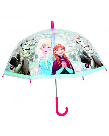 Parapluie manuel transparent La Reine des Neiges