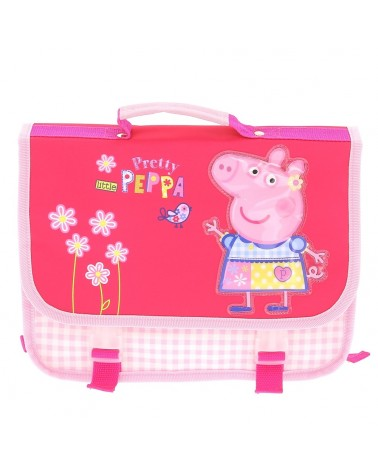 Cartable Peppa Pig impression vichy